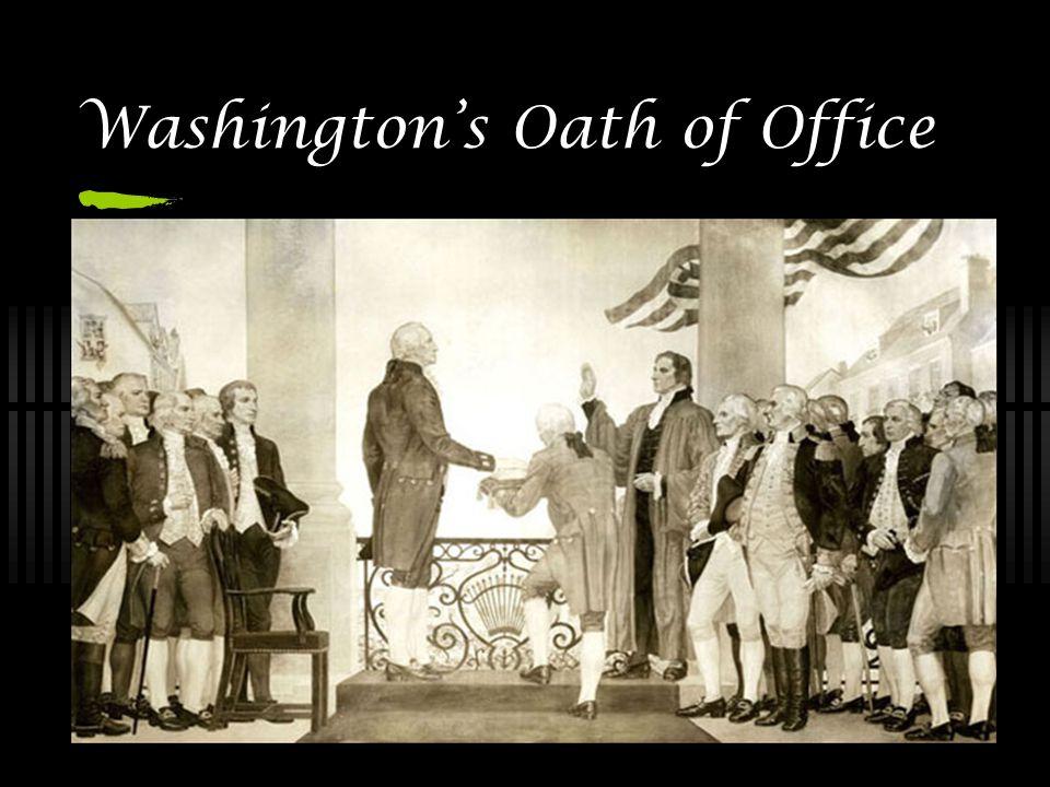 Washington's Oath of Office