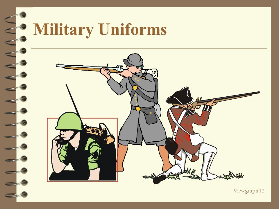 Viewgraph 12 Military Uniforms