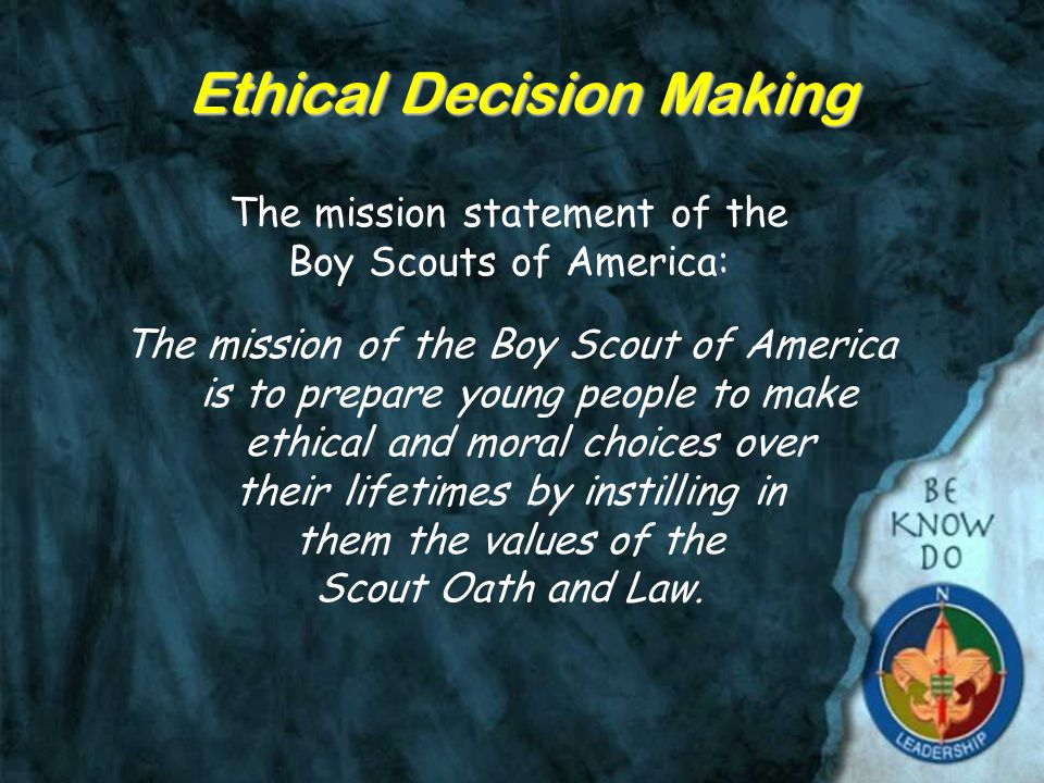 Objectives Give the definition of Ethics and discuss the the importance of ethical decision making Describe three kinds of decision making - Right vs