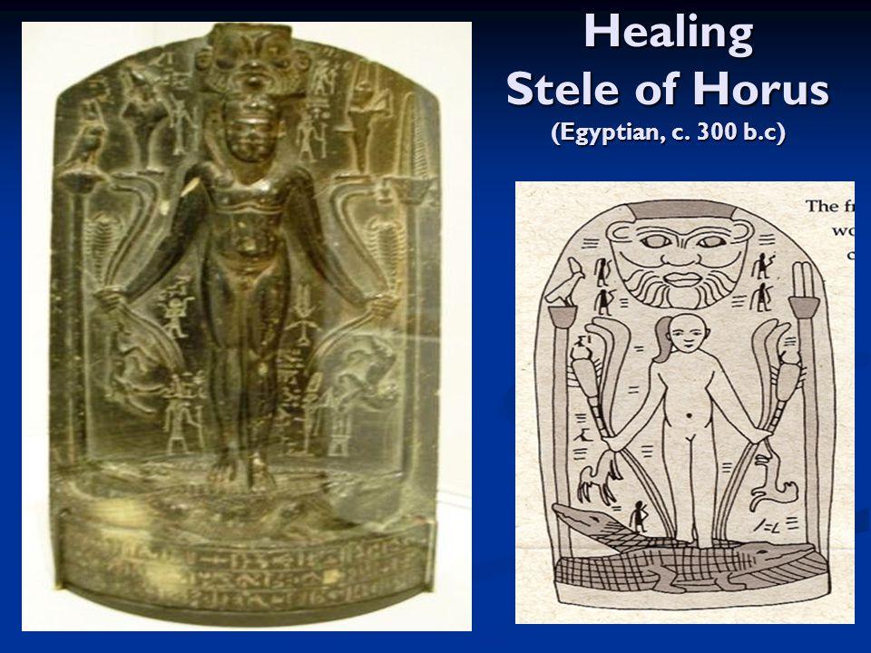 Healing Stele of Horus (Egyptian, c. 300 b.c)