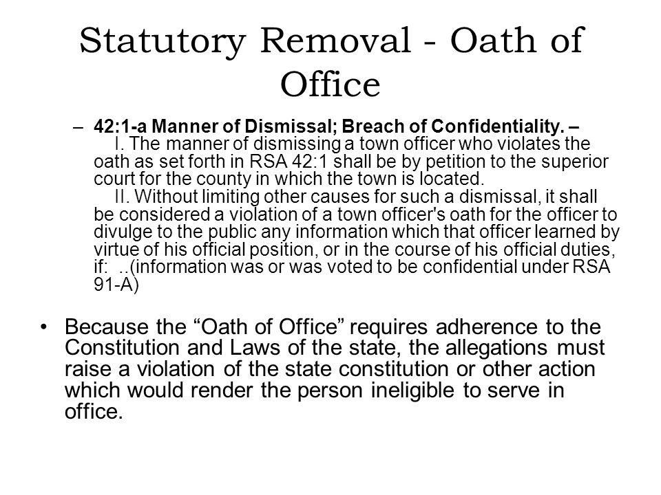 Other grounds for removal The previous statutory sections represent the exclusive method of removing an elected Tax Collector.