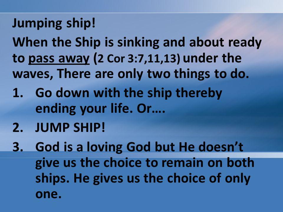 Jumping ship.
