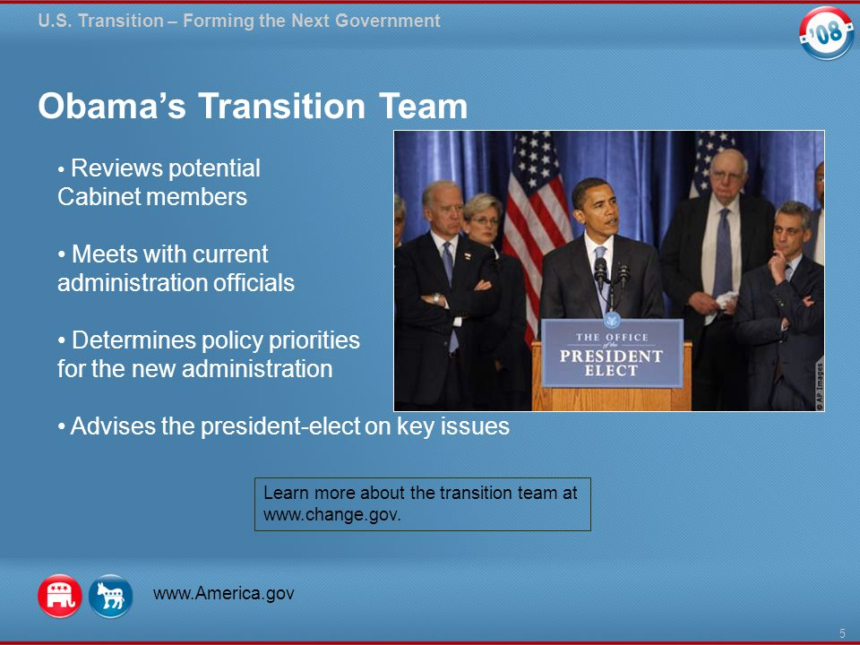 Obama's Transition Team U.S.