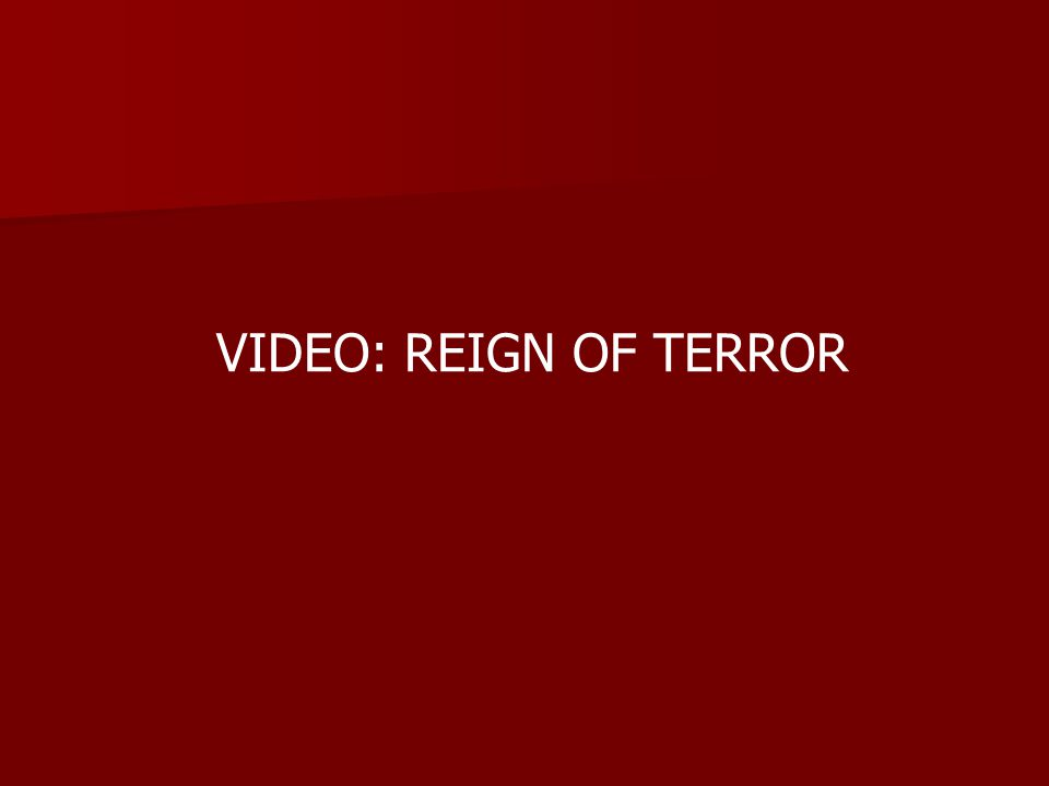 VIDEO: REIGN OF TERROR