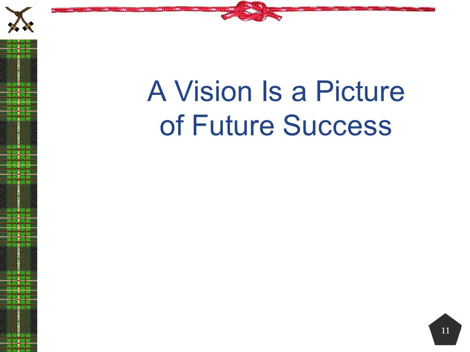 A Vision Is a Picture of Future Success 11
