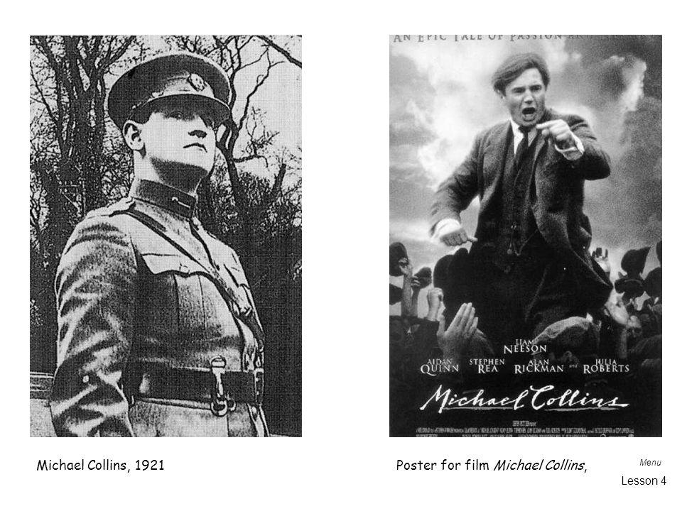 Menu Lesson 4 Michael Collins, 1921Poster for film Michael Collins,