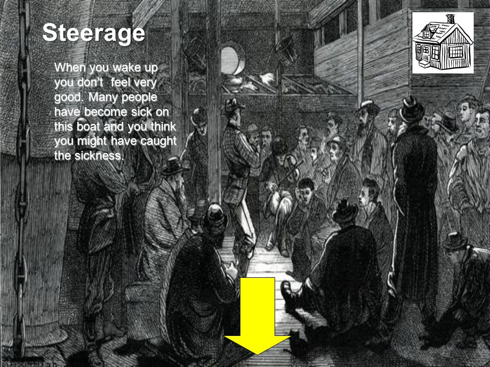 Steerage When you wake up you don't feel very good.