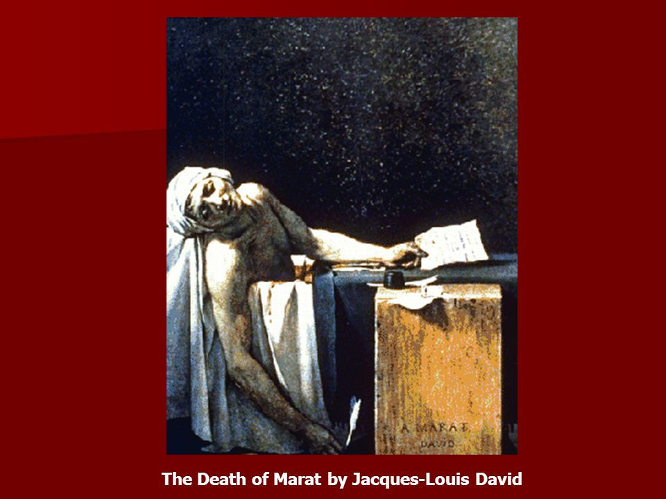 The Death of Marat by Jacques-Louis David