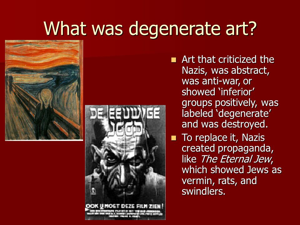 What was degenerate art.