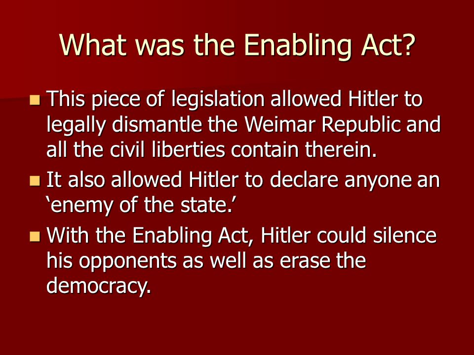 What was the Enabling Act.