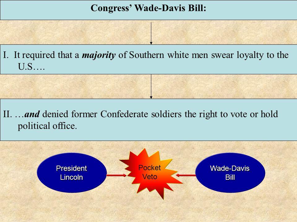 Congress' Wade-Davis Bill: I.