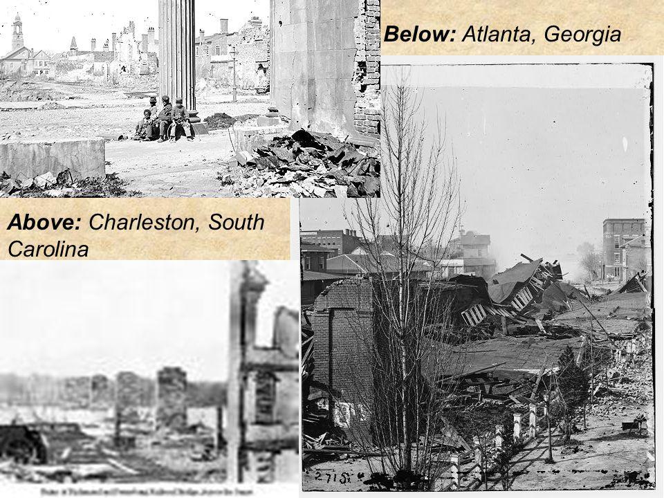 Below: Atlanta, Georgia Above: Charleston, South Carolina