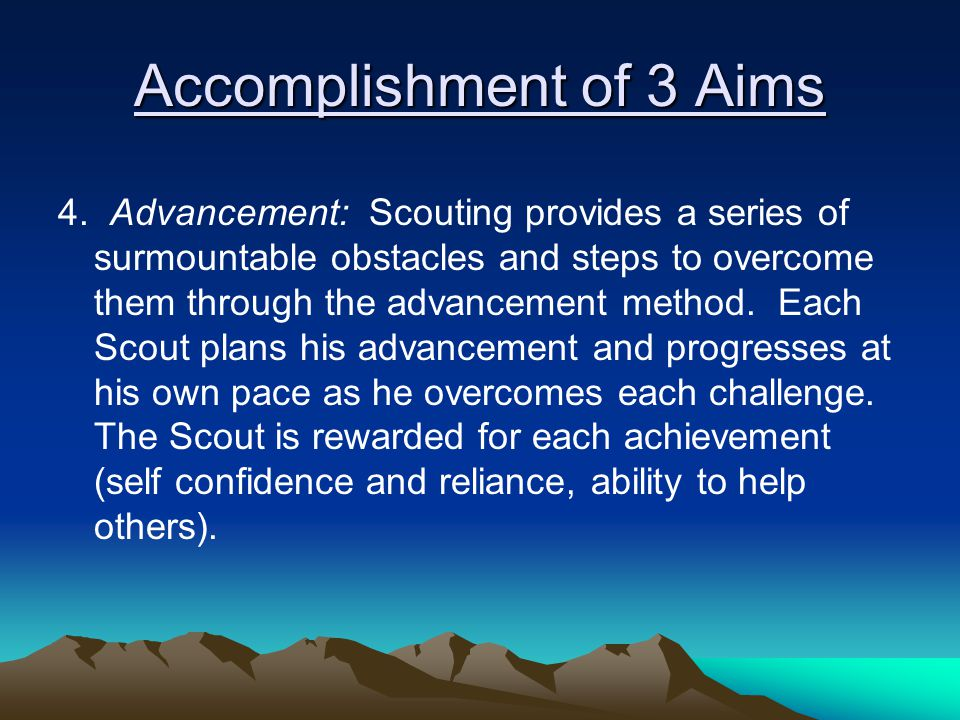 Accomplishment of 3 Aims 4.