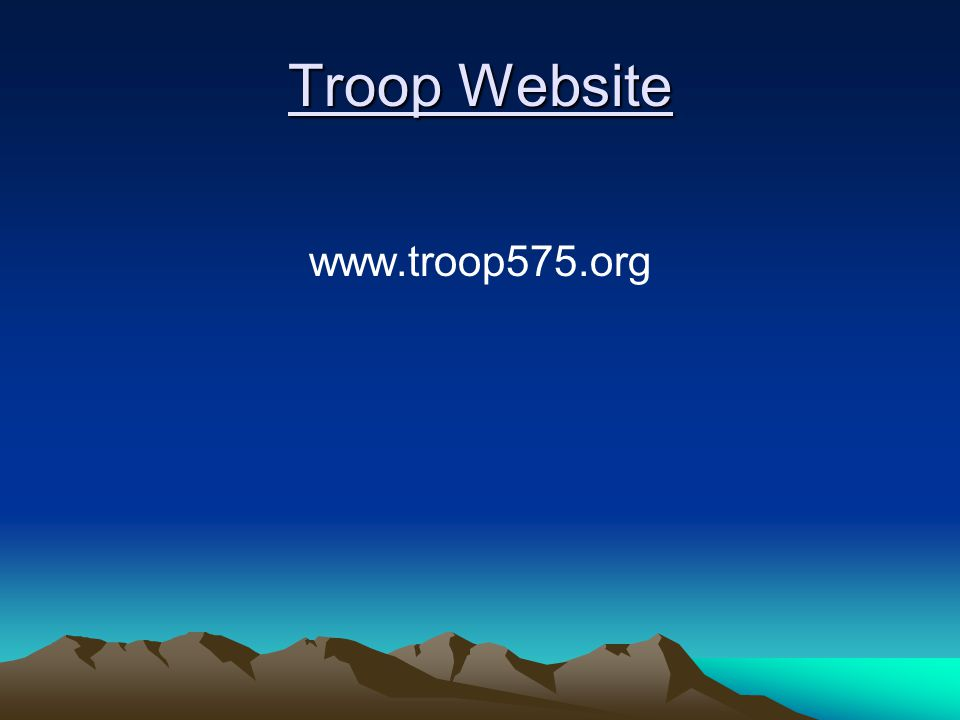 Troop Website