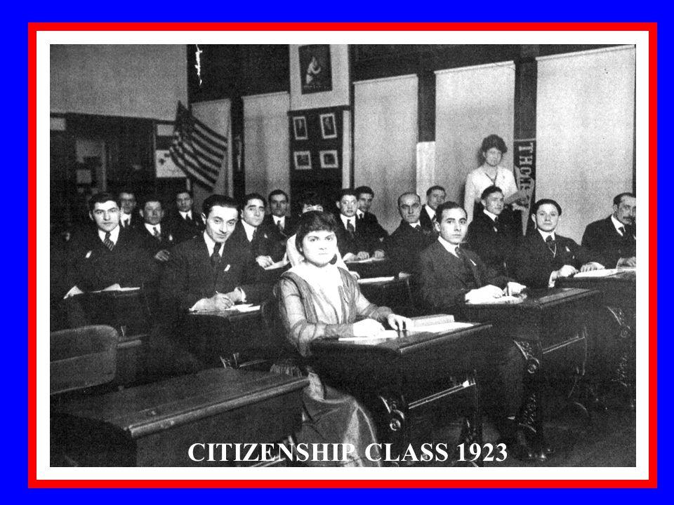 9 CITIZENSHIP CLASS 1923
