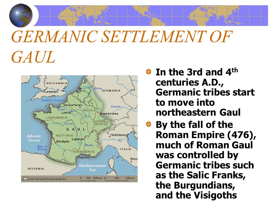 The Dark Ages (repeat slide) In the 5 th century, as Rome collapsed, invaded and plundered by Germanic tribes, Europe entered the Dark Ages, from which it would not emerge until at least the 10 th century.