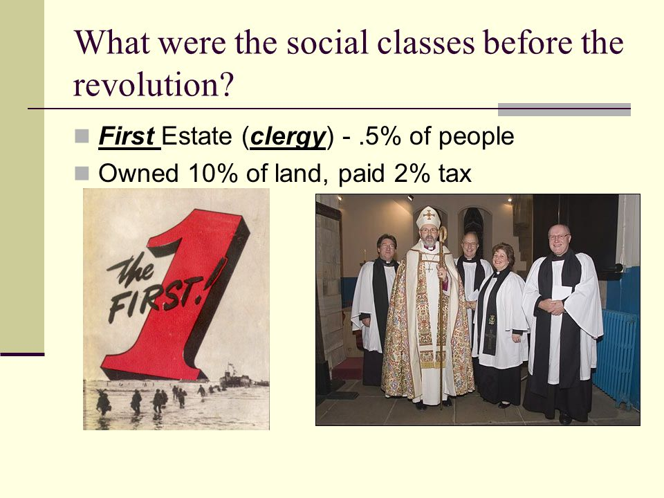 What were the social classes before the revolution.