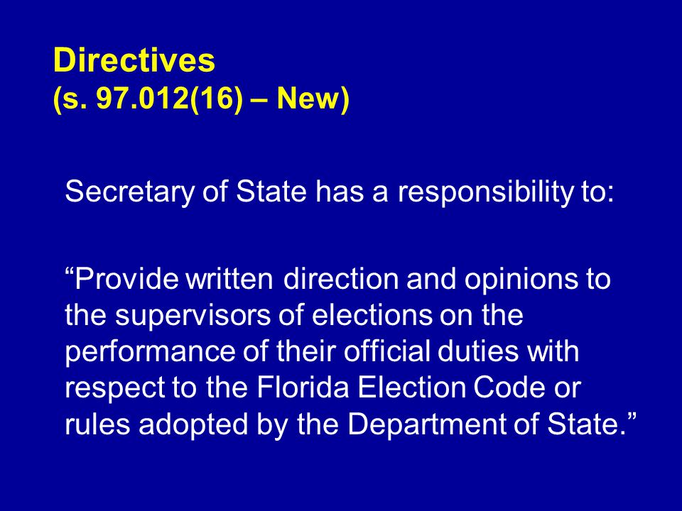 Directives (s.