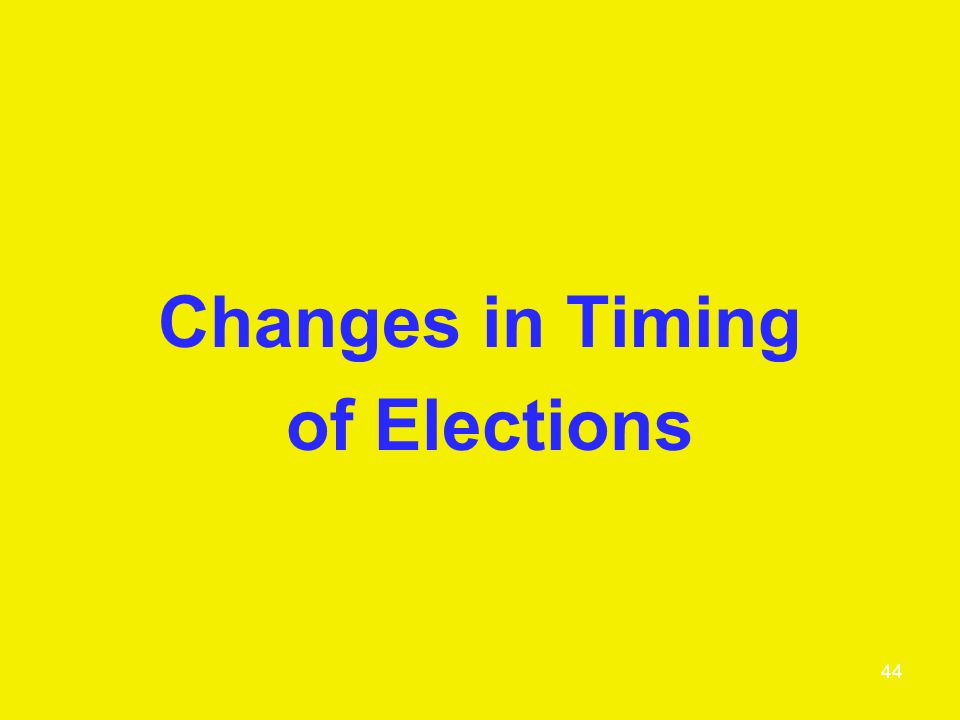 Changes in Timing of Elections 44