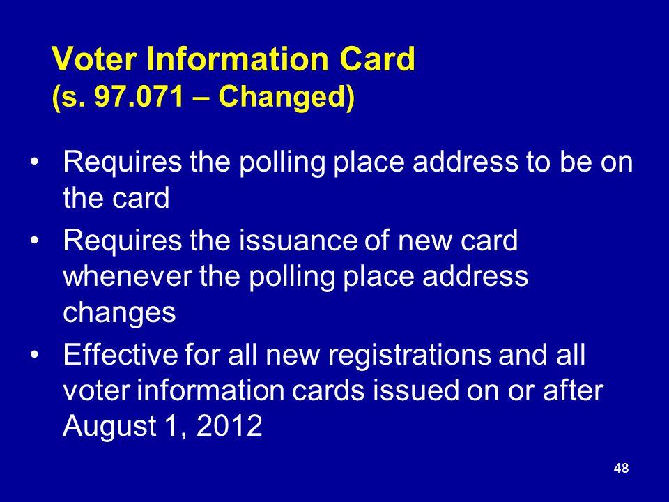 Voter Information Card (s.