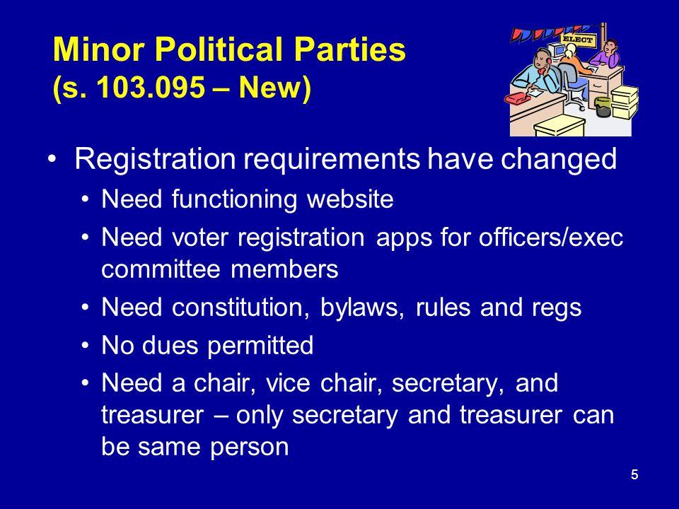 Minor Political Parties (s.