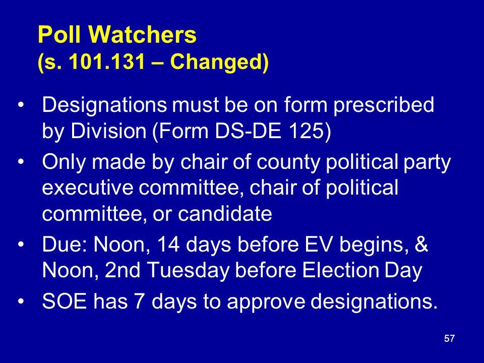 Poll Watchers (s.