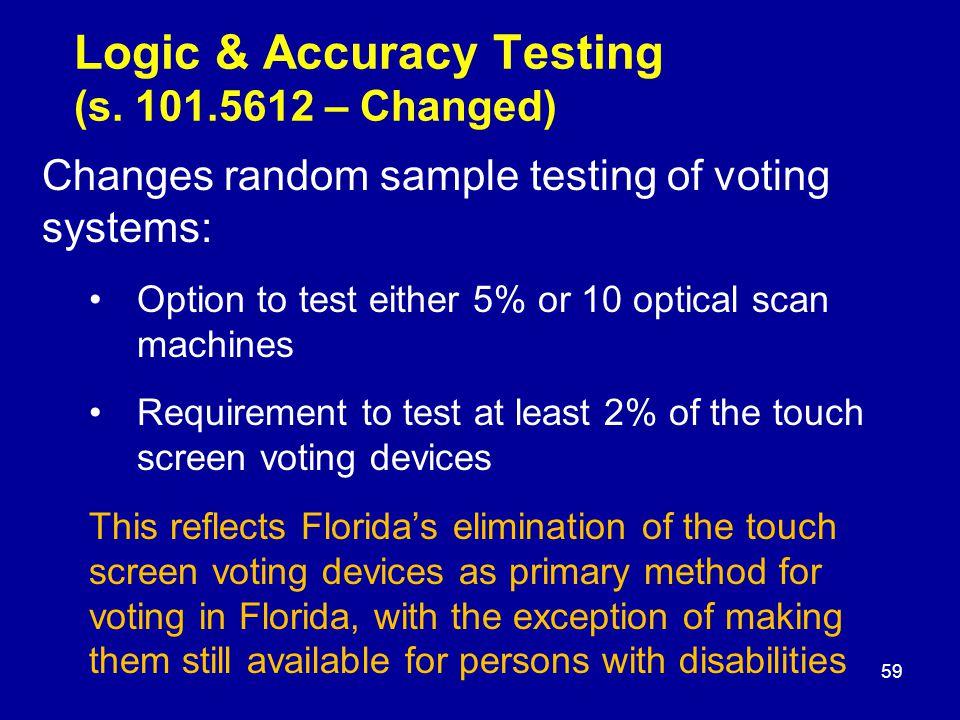 Logic & Accuracy Testing (s.