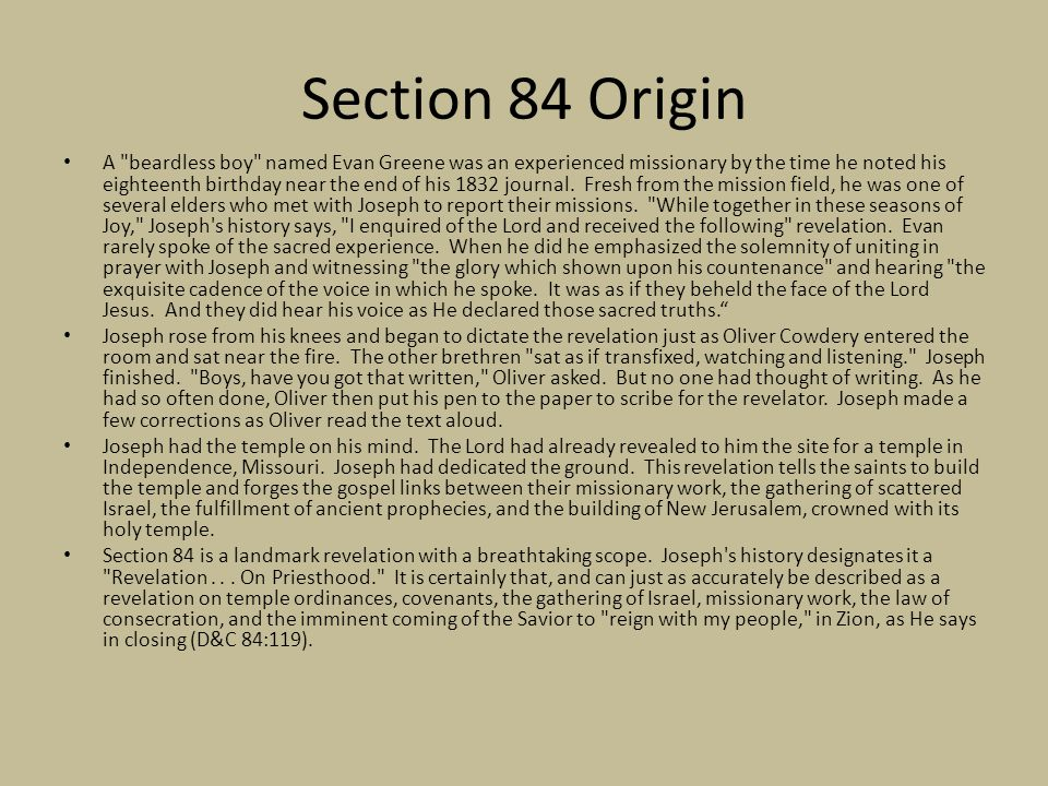 Section 84 Origin A