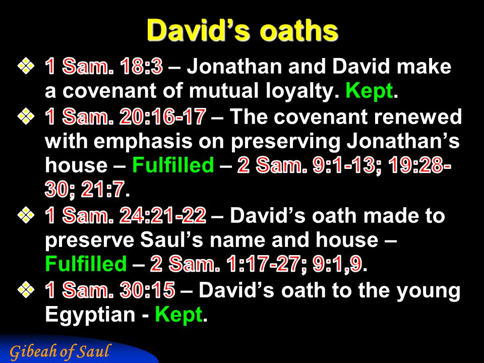 Gibeah of Saul David's oaths