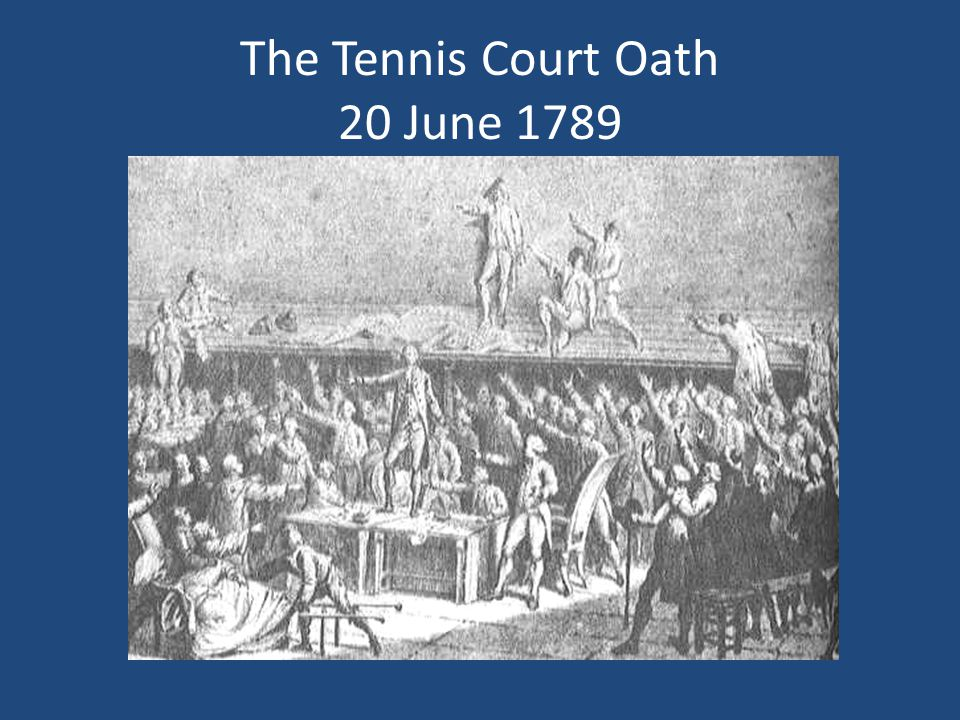 The Tennis Court Oath 20 June 1789