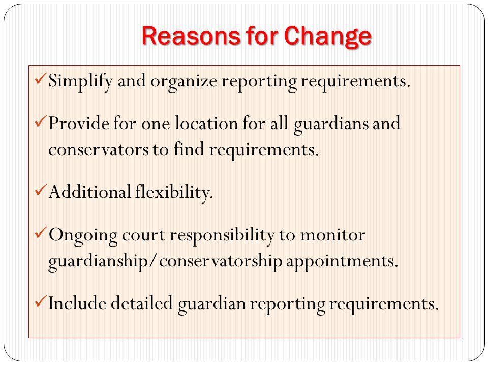 Statutory Changes Guardianship I.C.15-5-209 Powers and Duties of Guardian of Minor I.C.