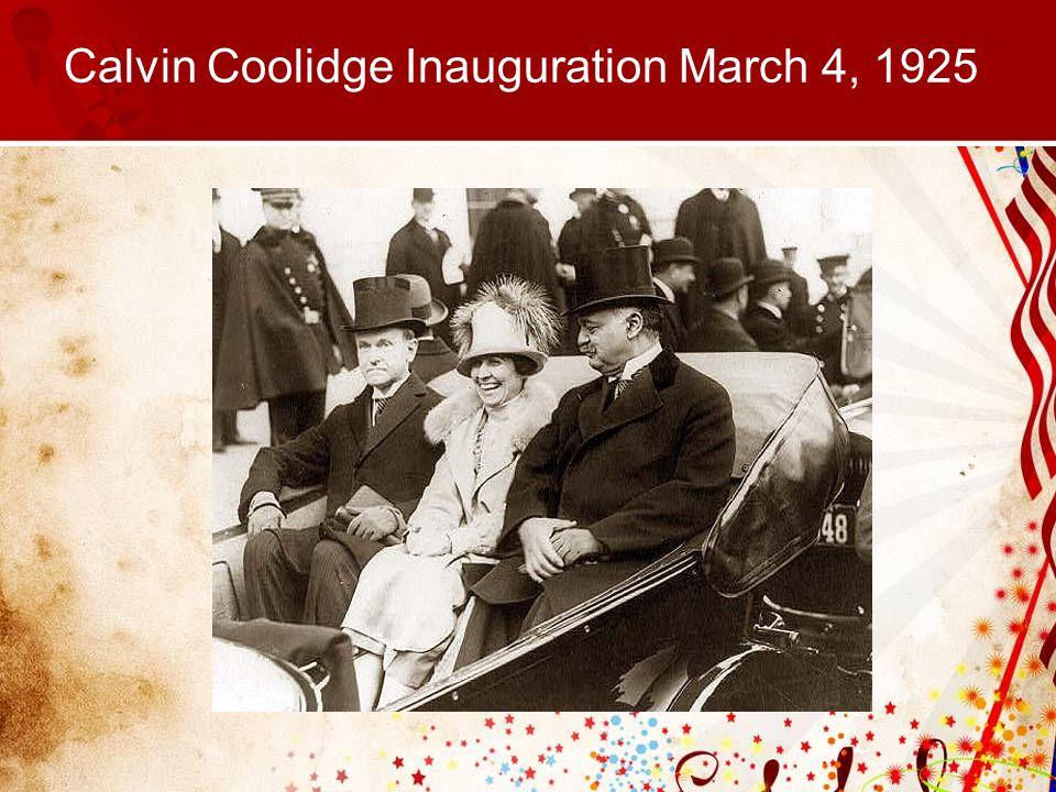 Calvin Coolidge Inauguration March 4, 1925