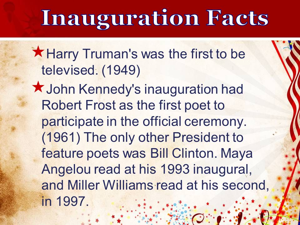  Harry Truman s was the first to be televised.