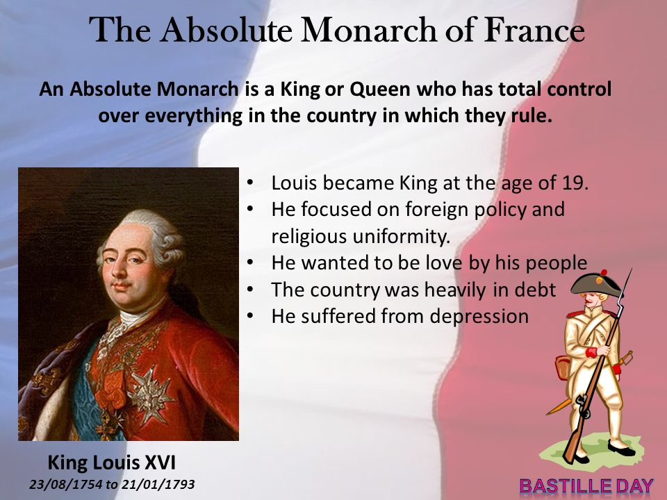Marie Antoinette 02/11/1755 to 16/10/1793 King Louis XVI 23/08/1754 to 21/01/1793 KING & QUEEN OF FRANCE King Louis XVI ruled from 1774 to 1792 Marrie