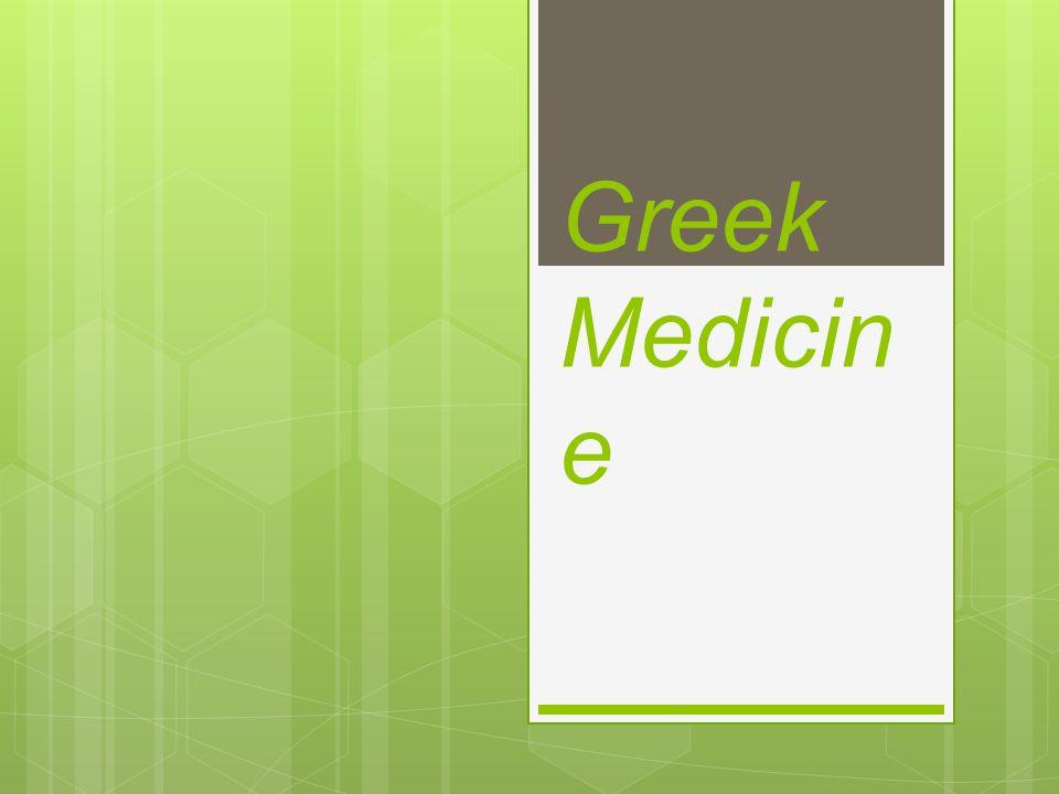 Greek Medicin e