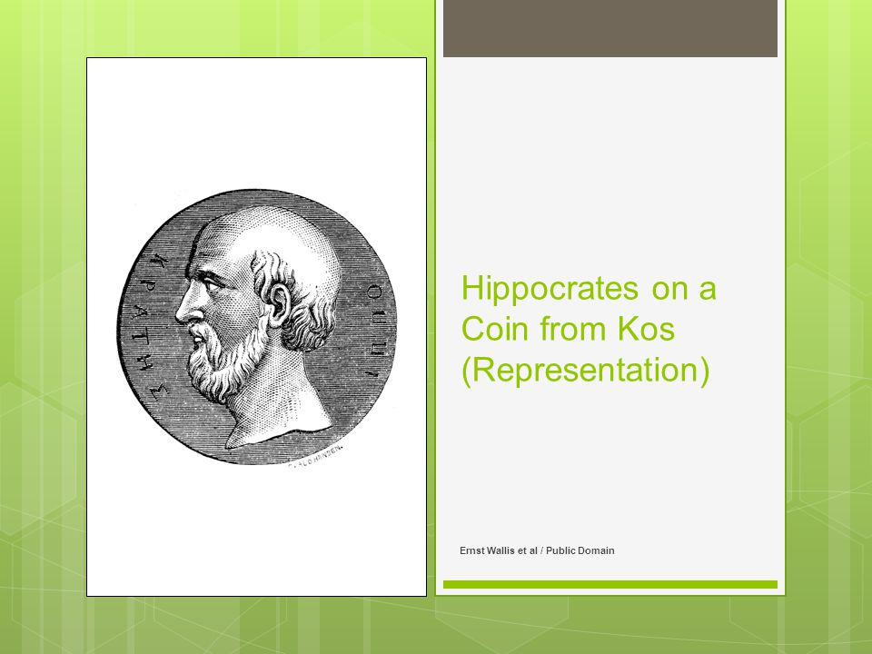 Hippocrates on a Coin from Kos (Representation) Ernst Wallis et al / Public Domain