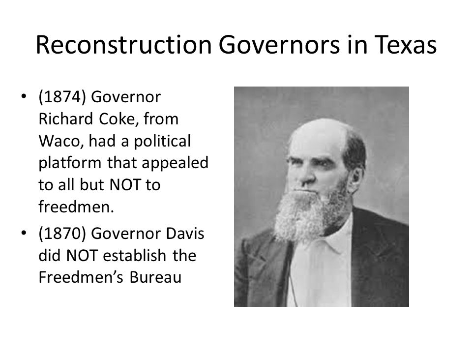 Reconstruction Leaders U.S. President Andrew Johnson was impeached during Reconstruction.