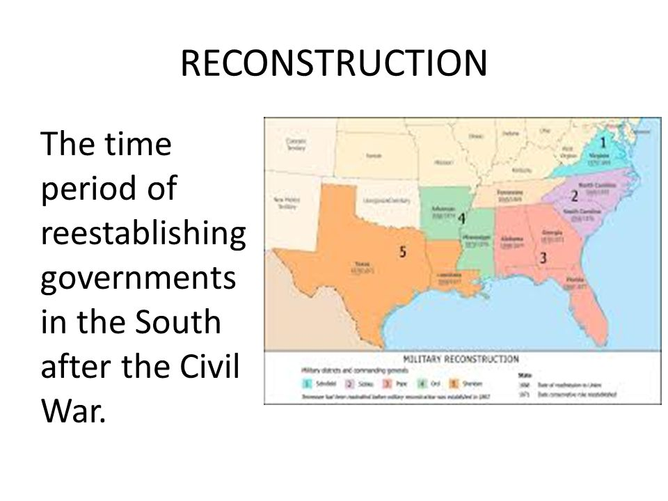 Radical Republicans Members of Congress who set strict standards for admitting Southern states back into the Union