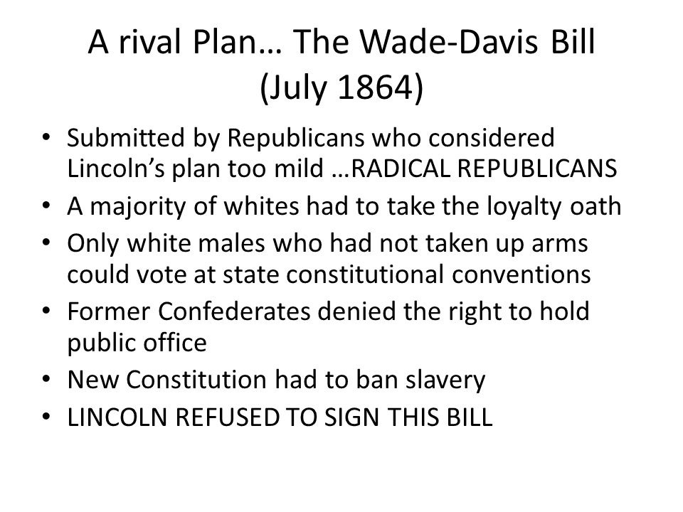 Reconstruction Declines Several reasons - many of the Radical Republicans were gone (dead, retired, lost elections) - racial prejudice in the North - Southerners protested the Bayonet rule