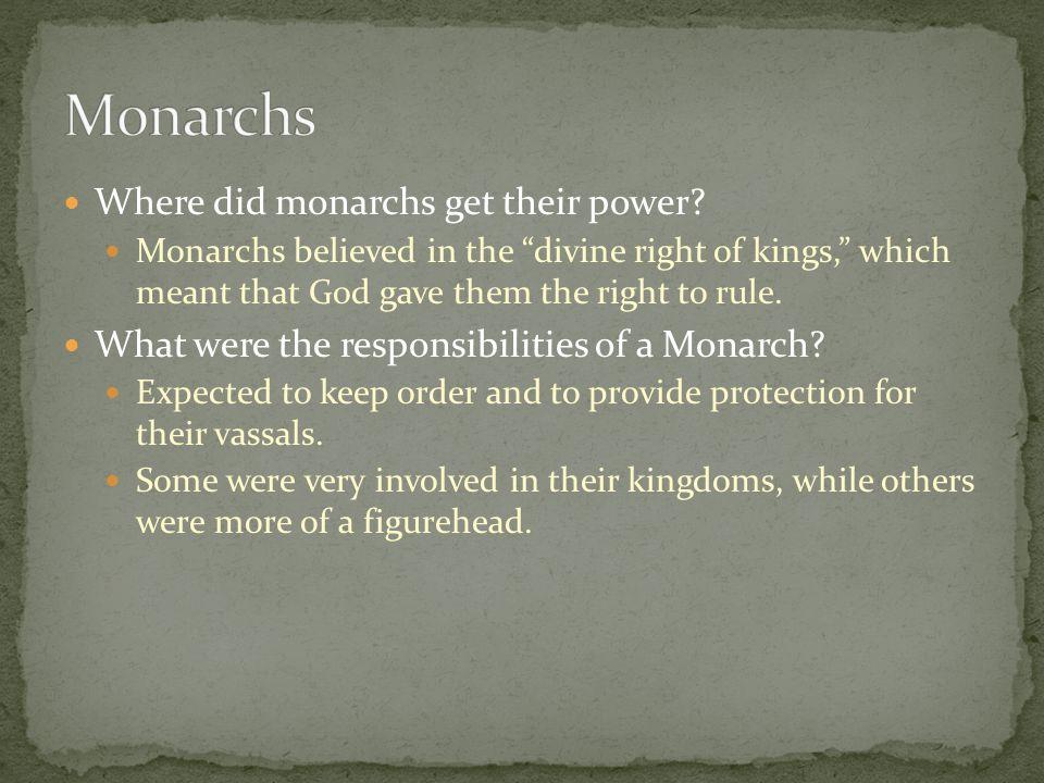 Where did monarchs get their power.