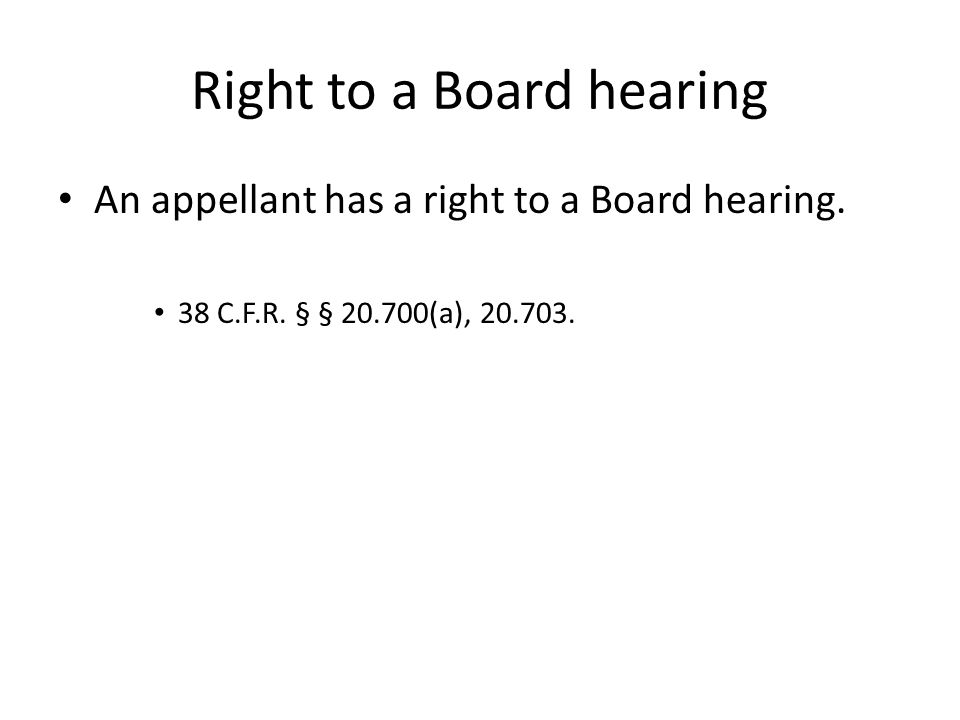 Pre-hearing conference: Case law impacting hearings The VLJ will clarify the issues.