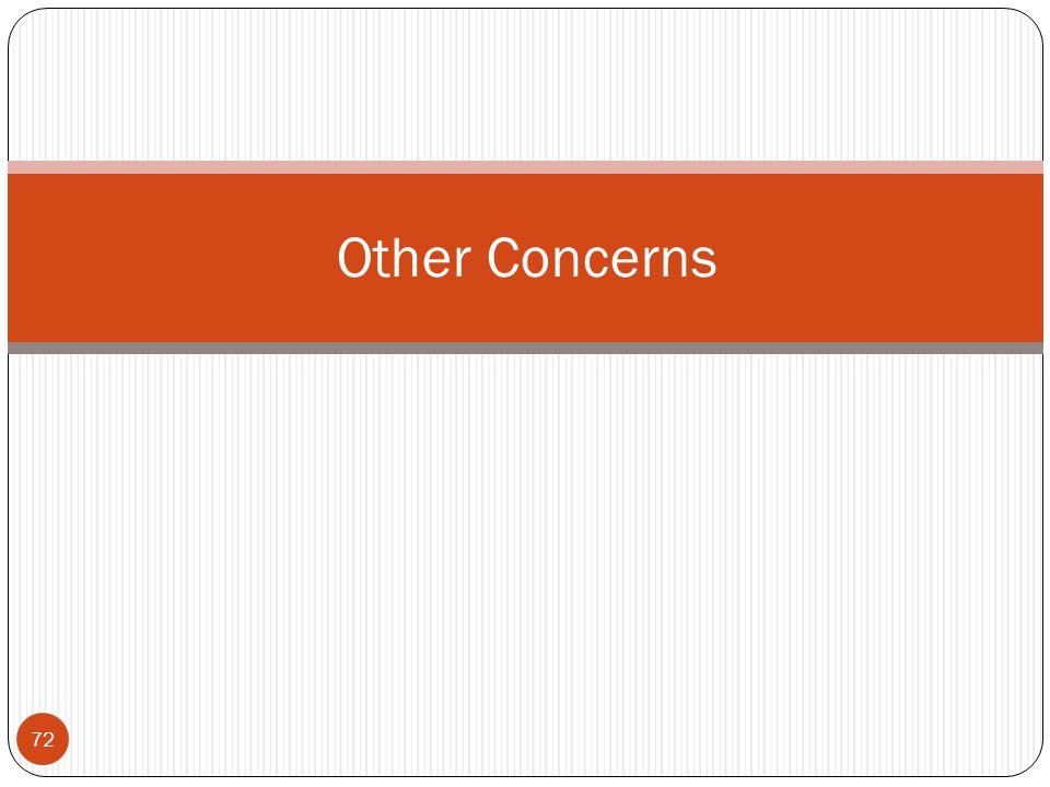 72 Other Concerns