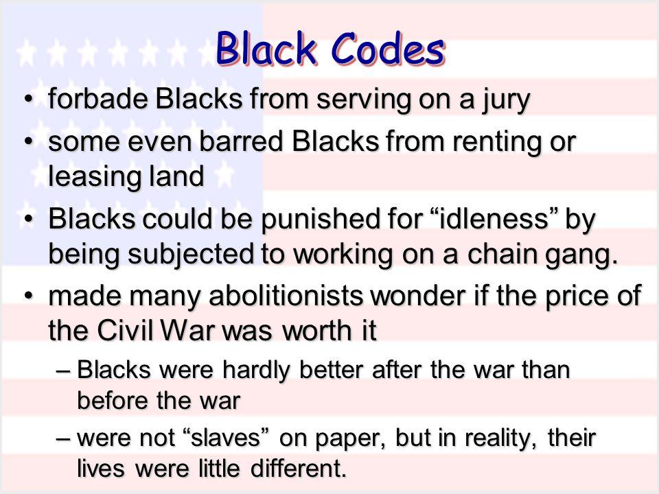 forbade Blacks from serving on a juryforbade Blacks from serving on a jury some even barred Blacks from renting or leasing landsome even barred Blacks