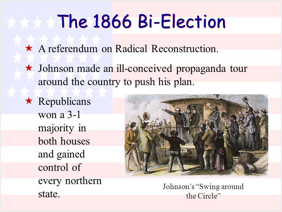 The 1866 Bi-Election Johnson's Swing around the Circle  A referendum on Radical Reconstruction.