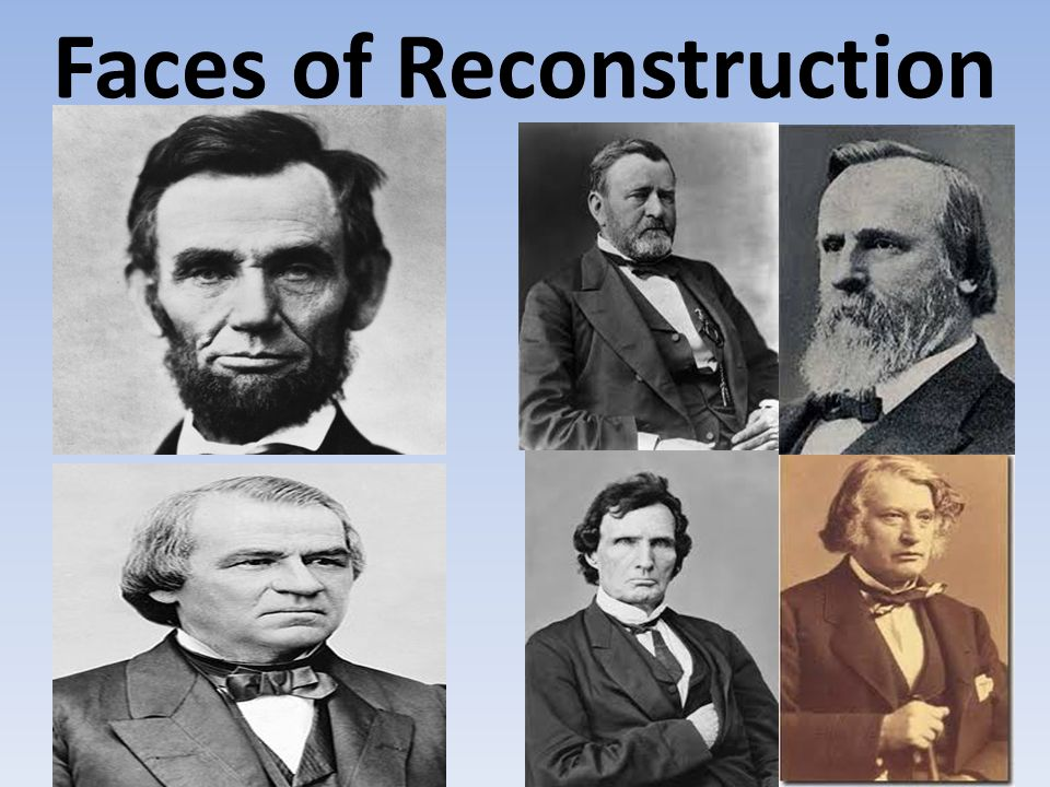Faces of Reconstruction
