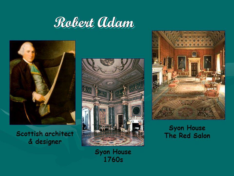 Robert Adam Scottish architect & designer Syon House 1760s Syon House The Red Salon