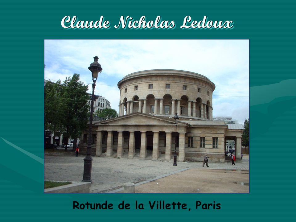 Claude Nicholas Ledoux Rotunde de la Villette, Paris