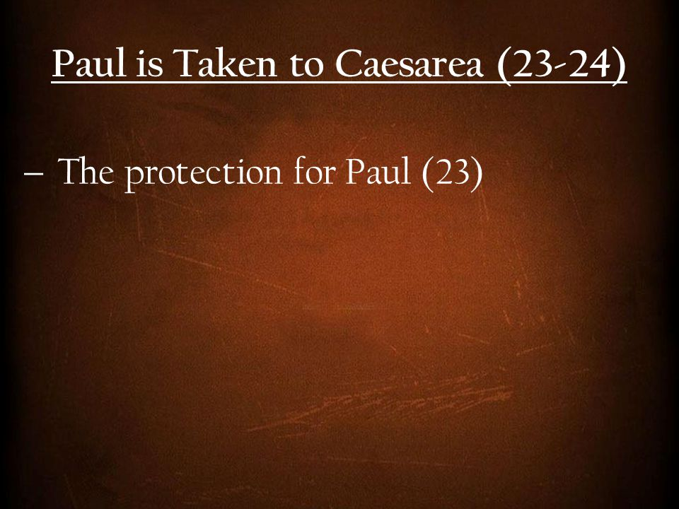  The protection for Paul (23)