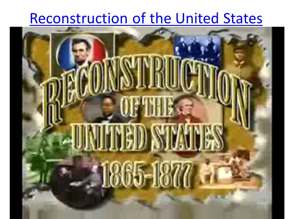 Reconstruction of the United States