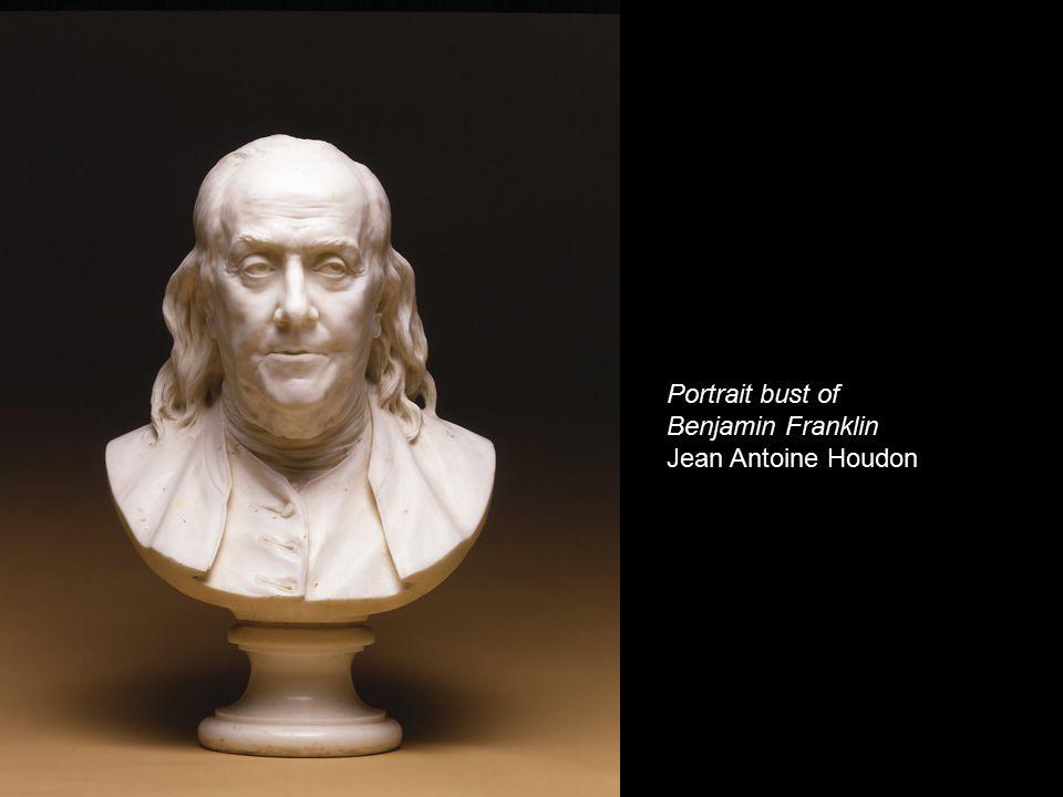Portrait bust of Benjamin Franklin Jean Antoine Houdon